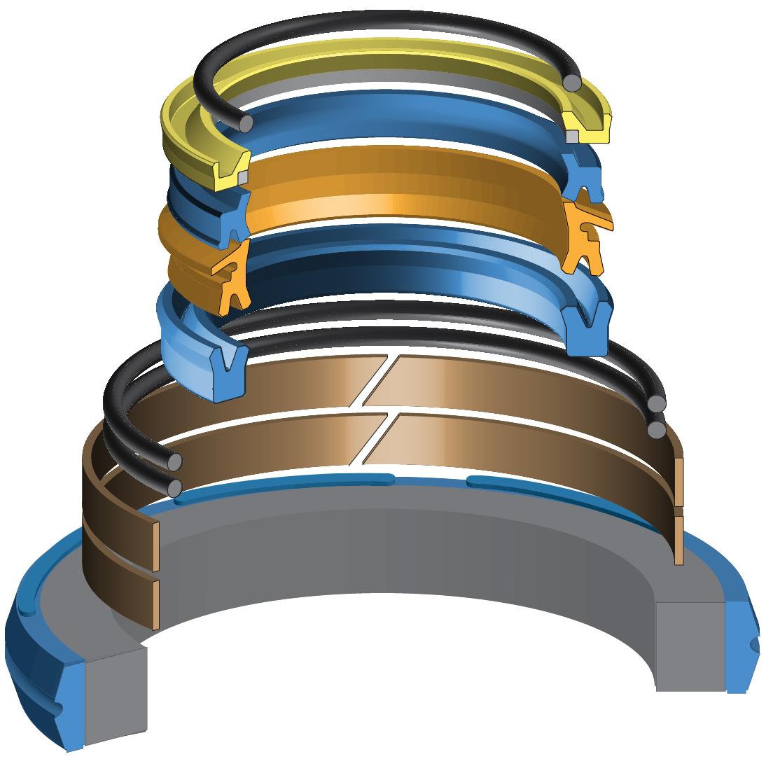JCB 991//20023 Hydraulic Cylinder Seal Kit