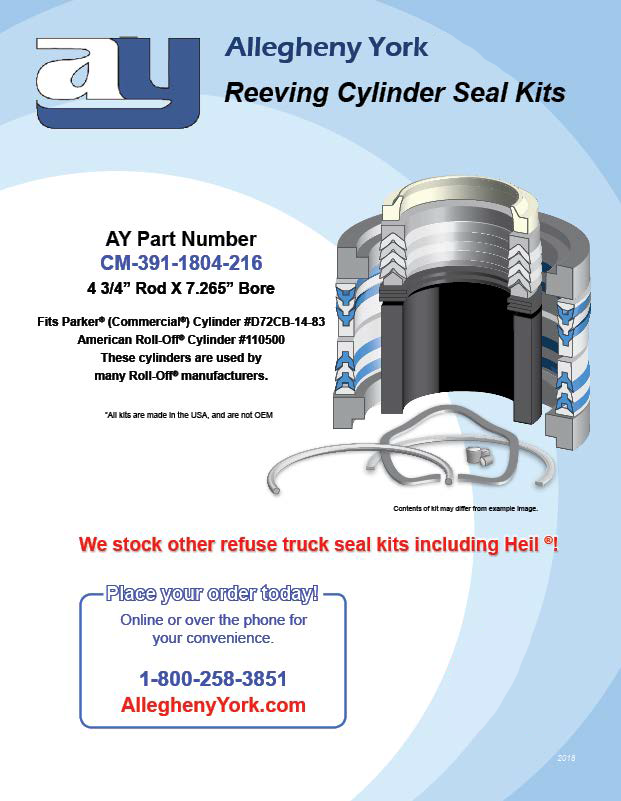 Reeving Cylinder Replacement Seal Kit Flyer