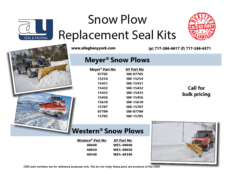 Snow Plow Replacement Seal Kit Flyer