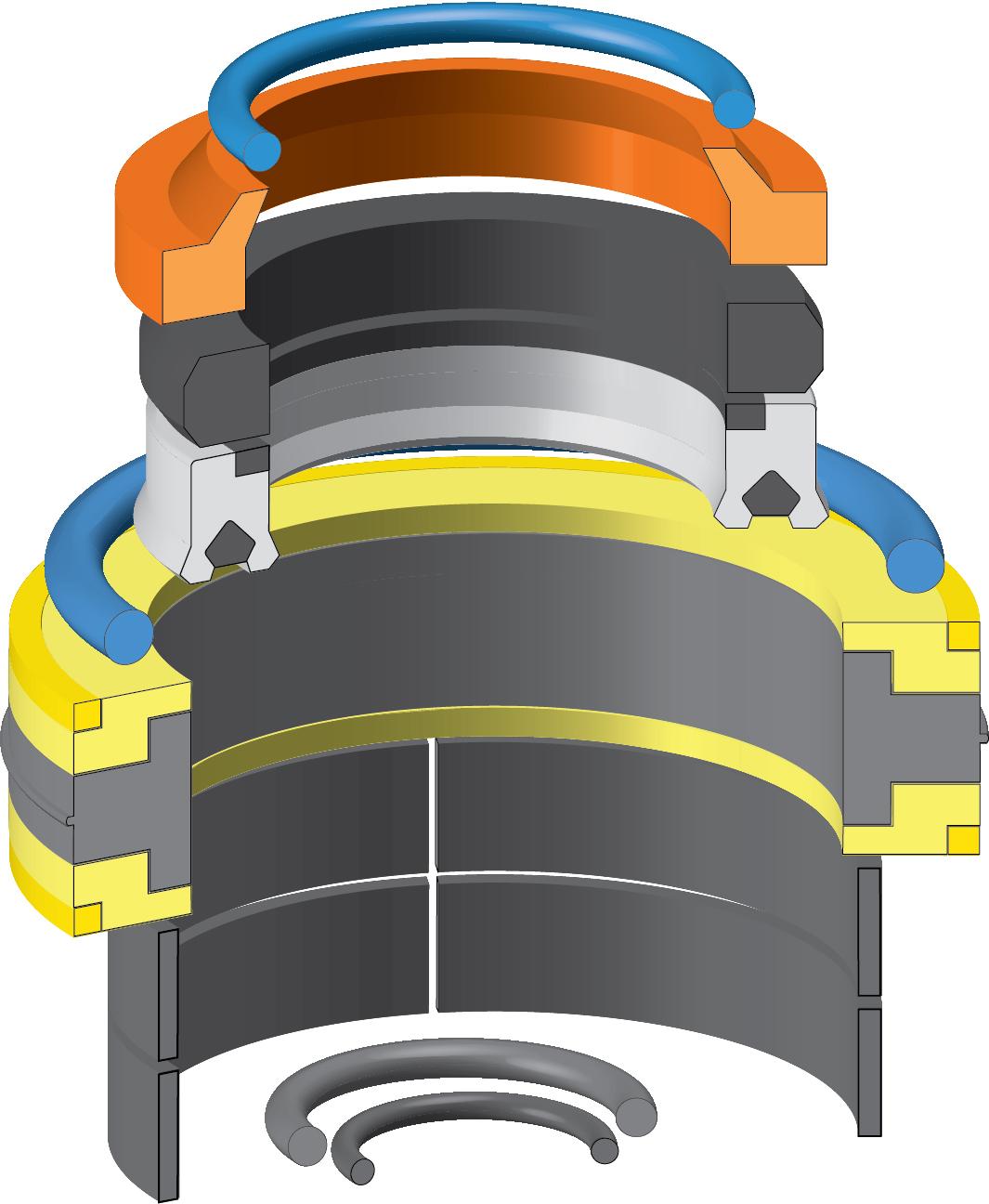 HYDRAULIC CYLINDER SEAL KIT FOR JCB 991//00123
