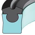 DZ - DEEP Z ROD SEAL - INCH