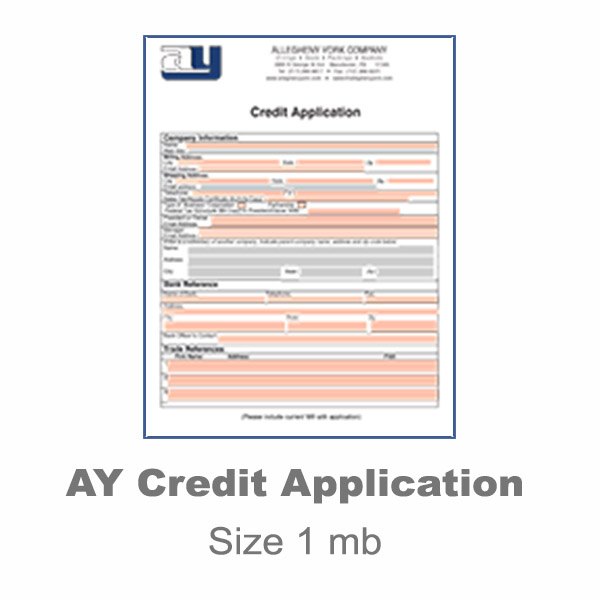 Allegheny York Credit Application