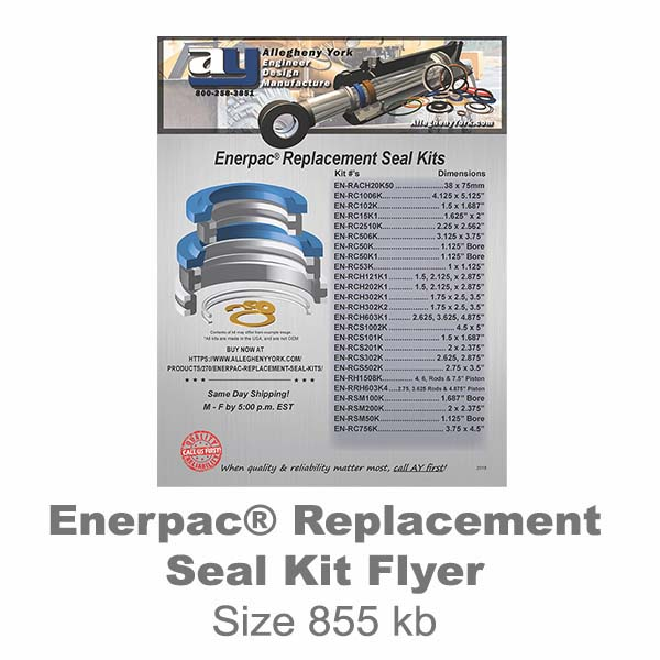 Enerpac Seal Kit Flyer