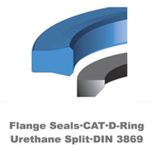 Flange Seals·CAT·D-Ring<br>Urethane Split·DIN 3869