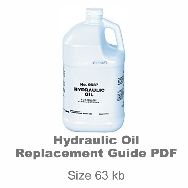 Hydraulic Oil Replacement