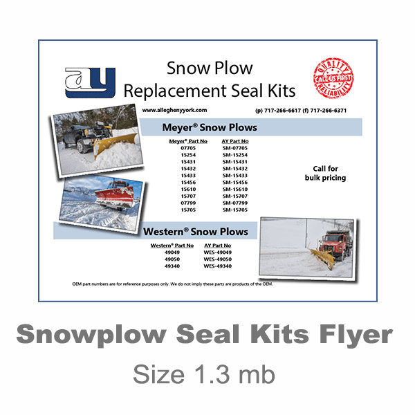 Snow Plow Seal Kit Flyer